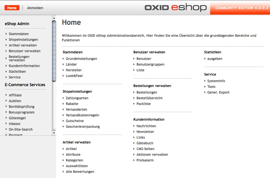 Oxid Eshop Template Oxid Eshop Screenshot